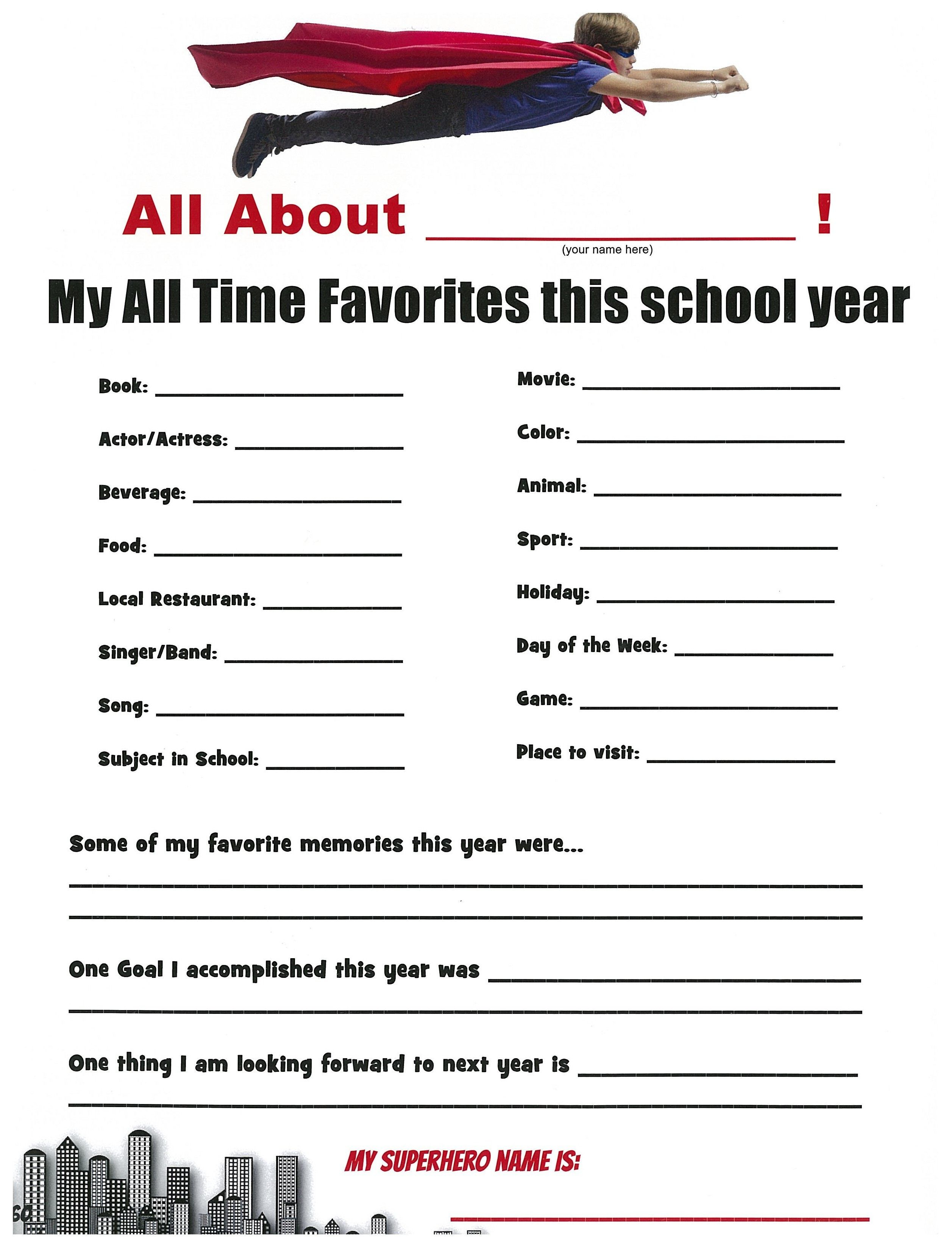 A Cute Idea For A Superhero Themed School Yearbook Page