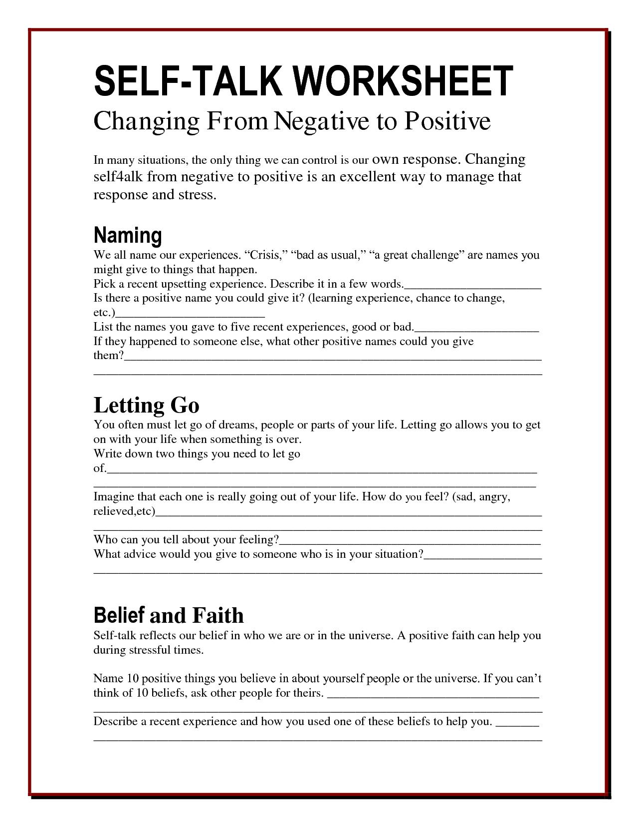 25 Cbt Techniques And Worksheets For Cognitive Behavioral