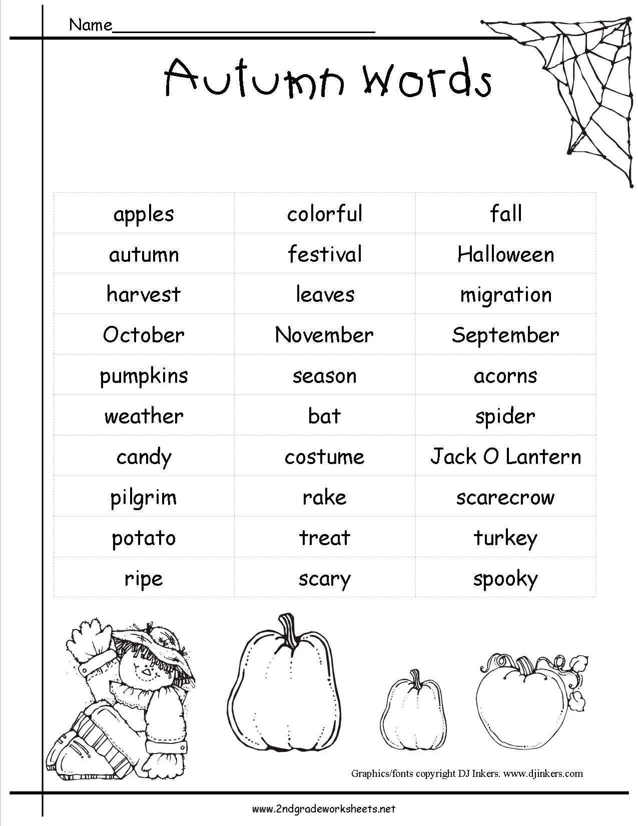 Autumn Theme Worksheets And Printouts