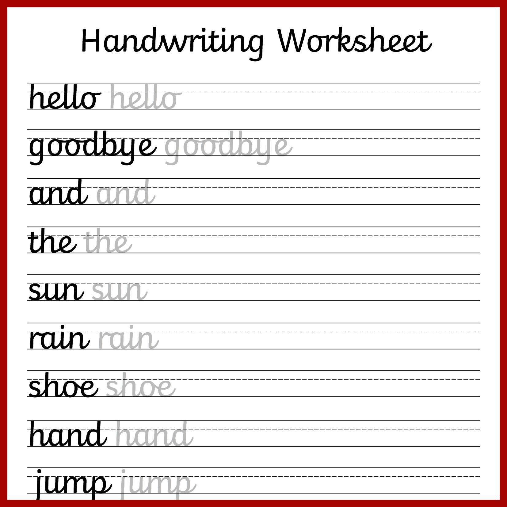 Printable Blank Writing Worksheet
