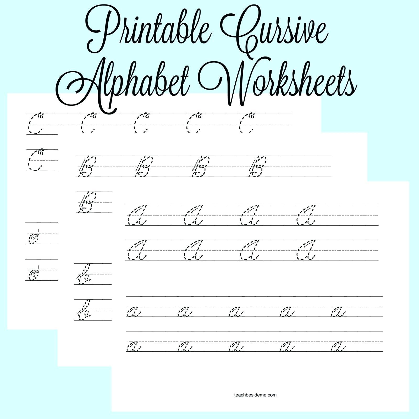 Cursive Writing Worksheets Printable Capital Letters