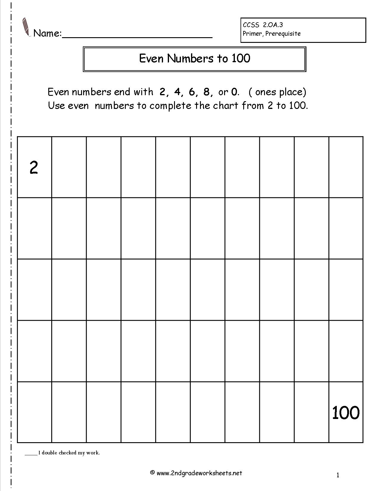 Odd And Even Printable Worksheets