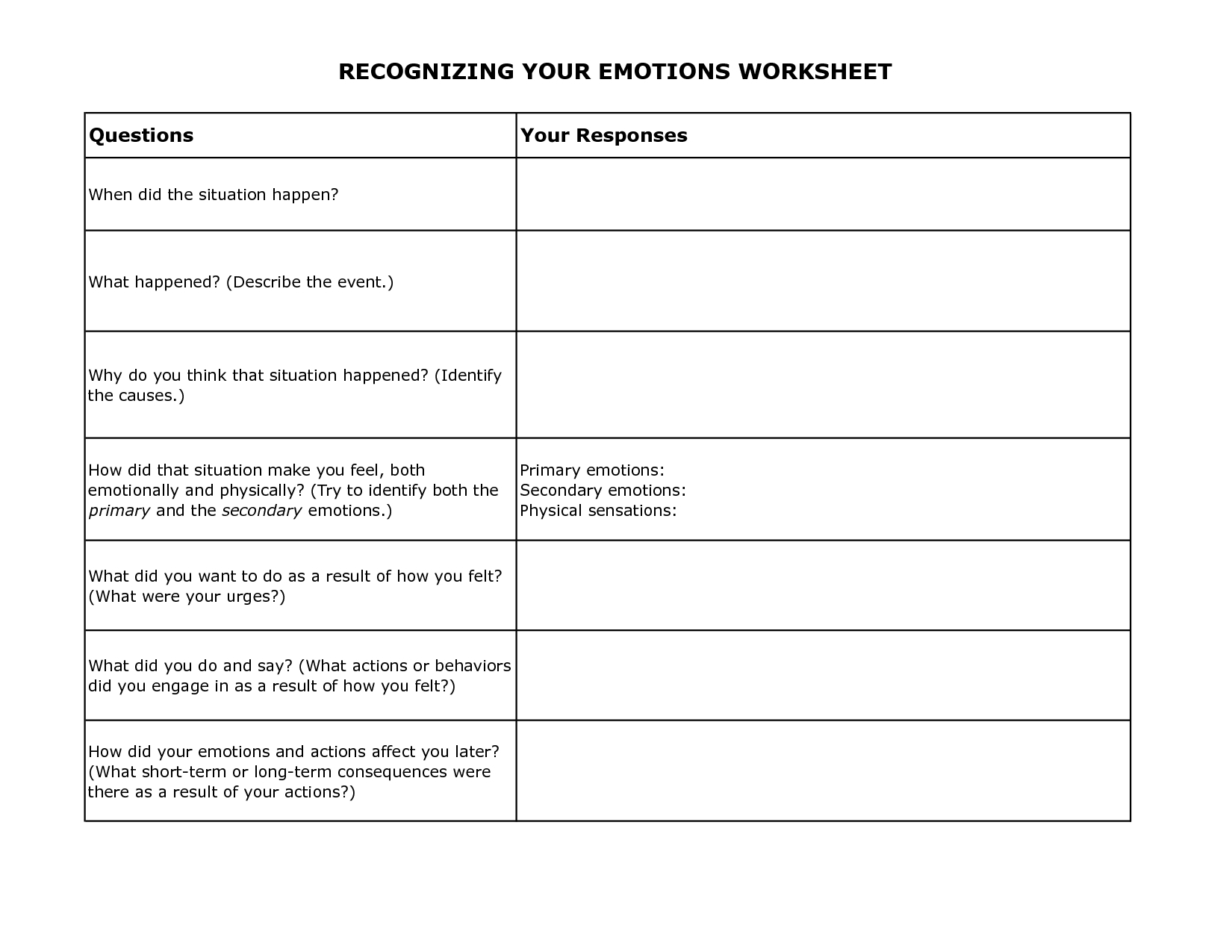 Cbt Practice Exercises Worksheet Therapist Aid