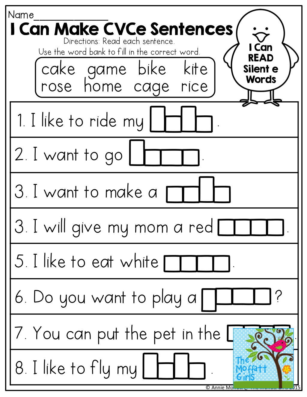Magic E Worksheets Free Printable