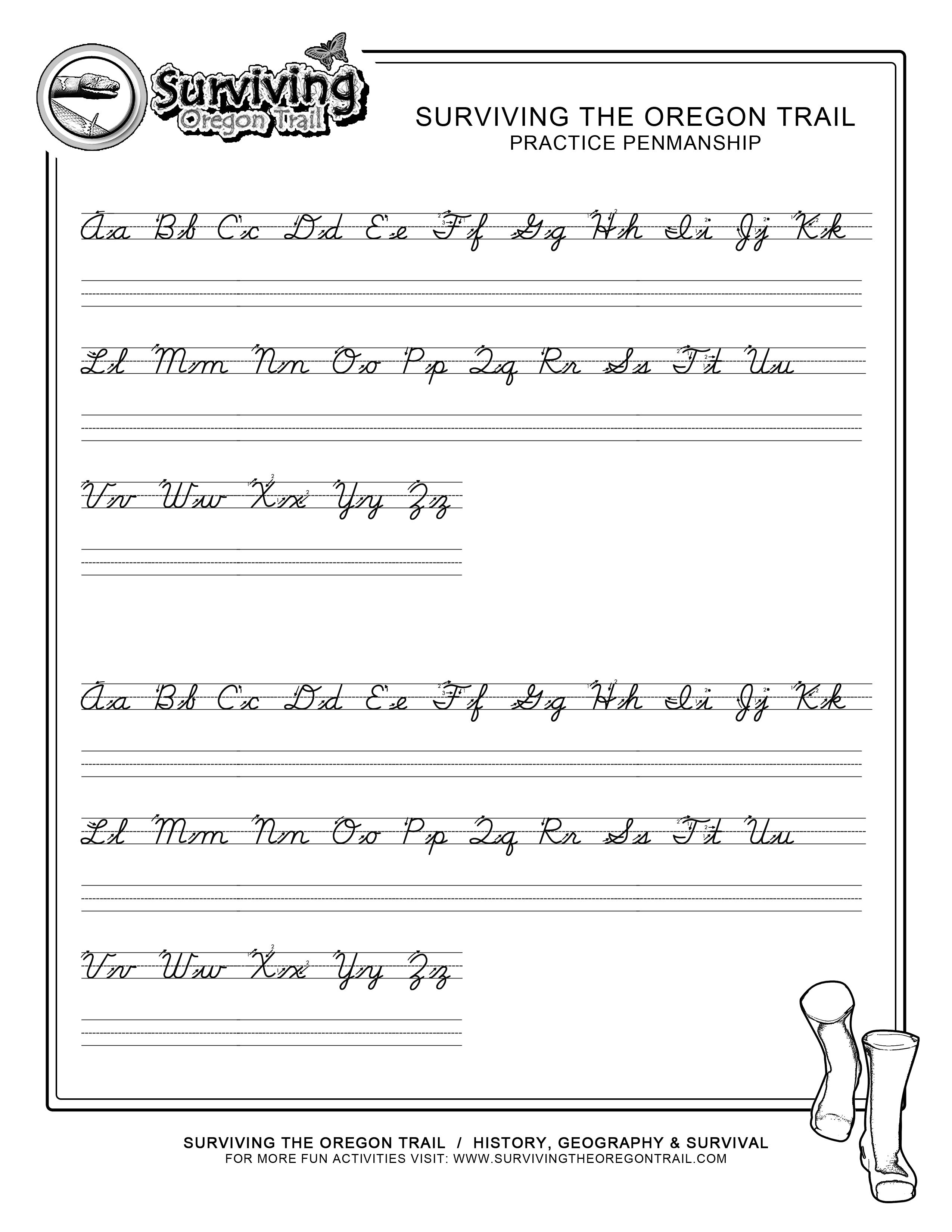 Teaching Cursive Writing Worksheet Printable