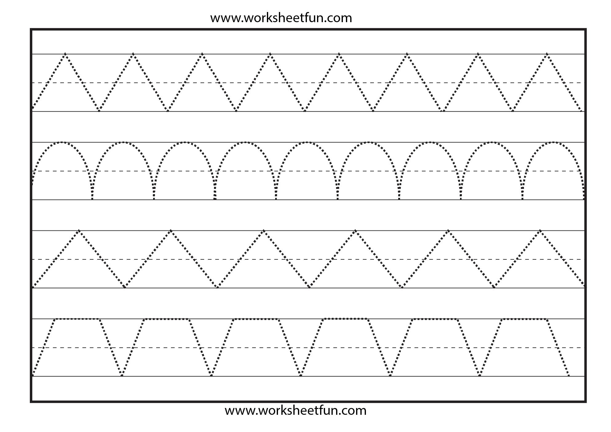 Line Tracing 1 Worksheet Free Printable Worksheets