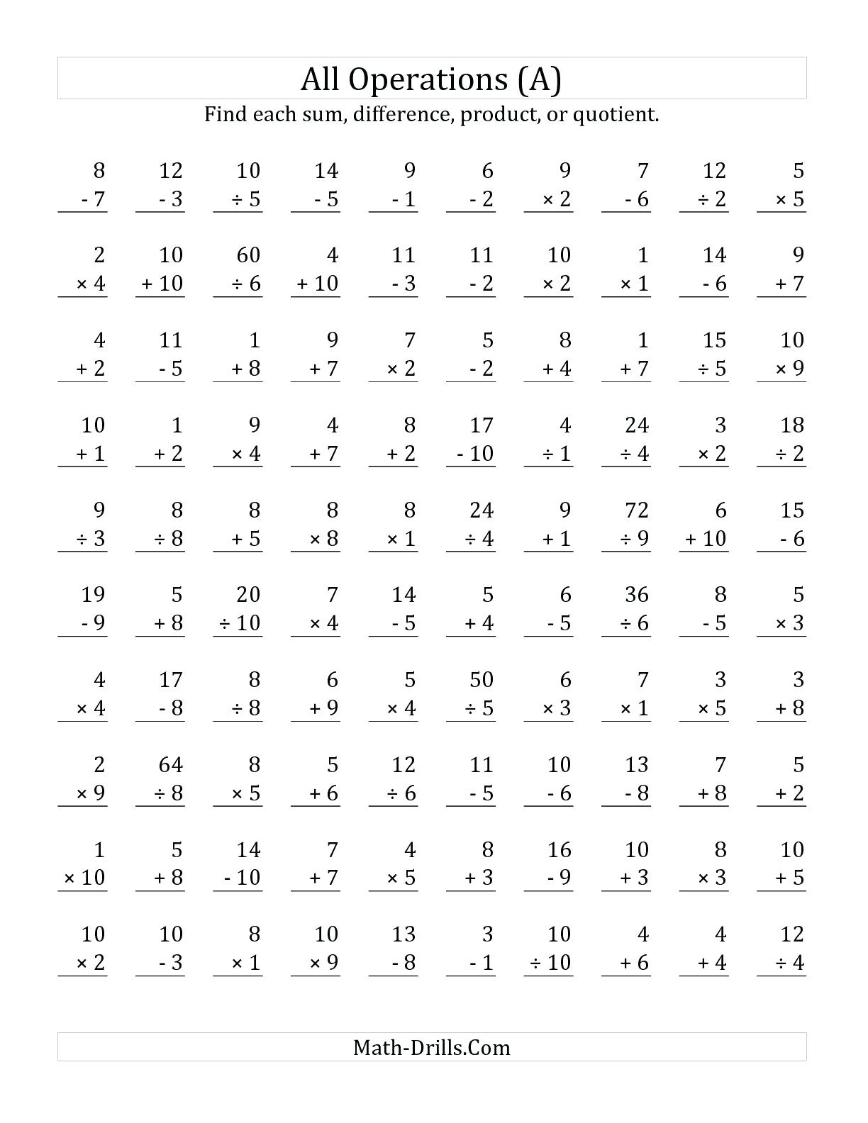 Printable Touchmath Number Line
