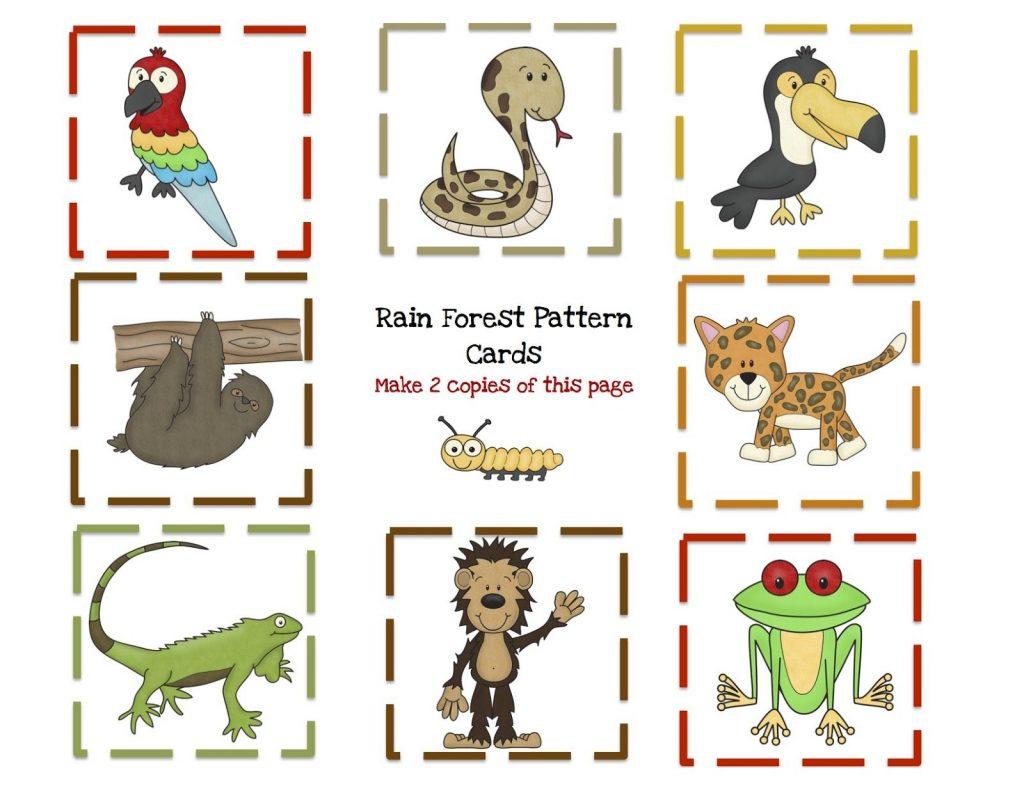 Preschool Printables Rain Forest Animal Printable
