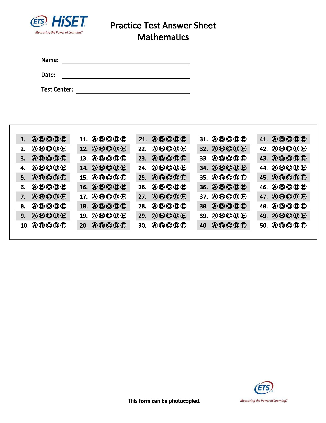 Math Worksheets For Ged Printable