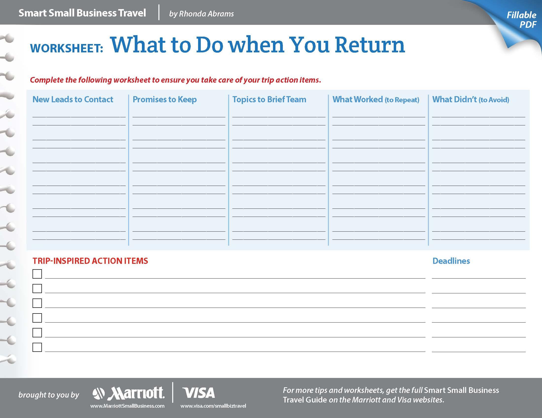 Business Goal Setting Worksheet