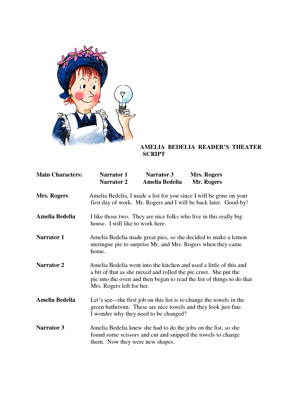 Amelia Bedelia Printable Worksheets