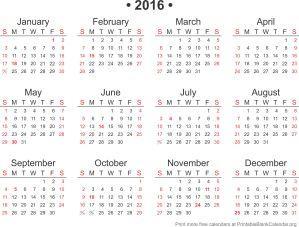 Free calendar 2015