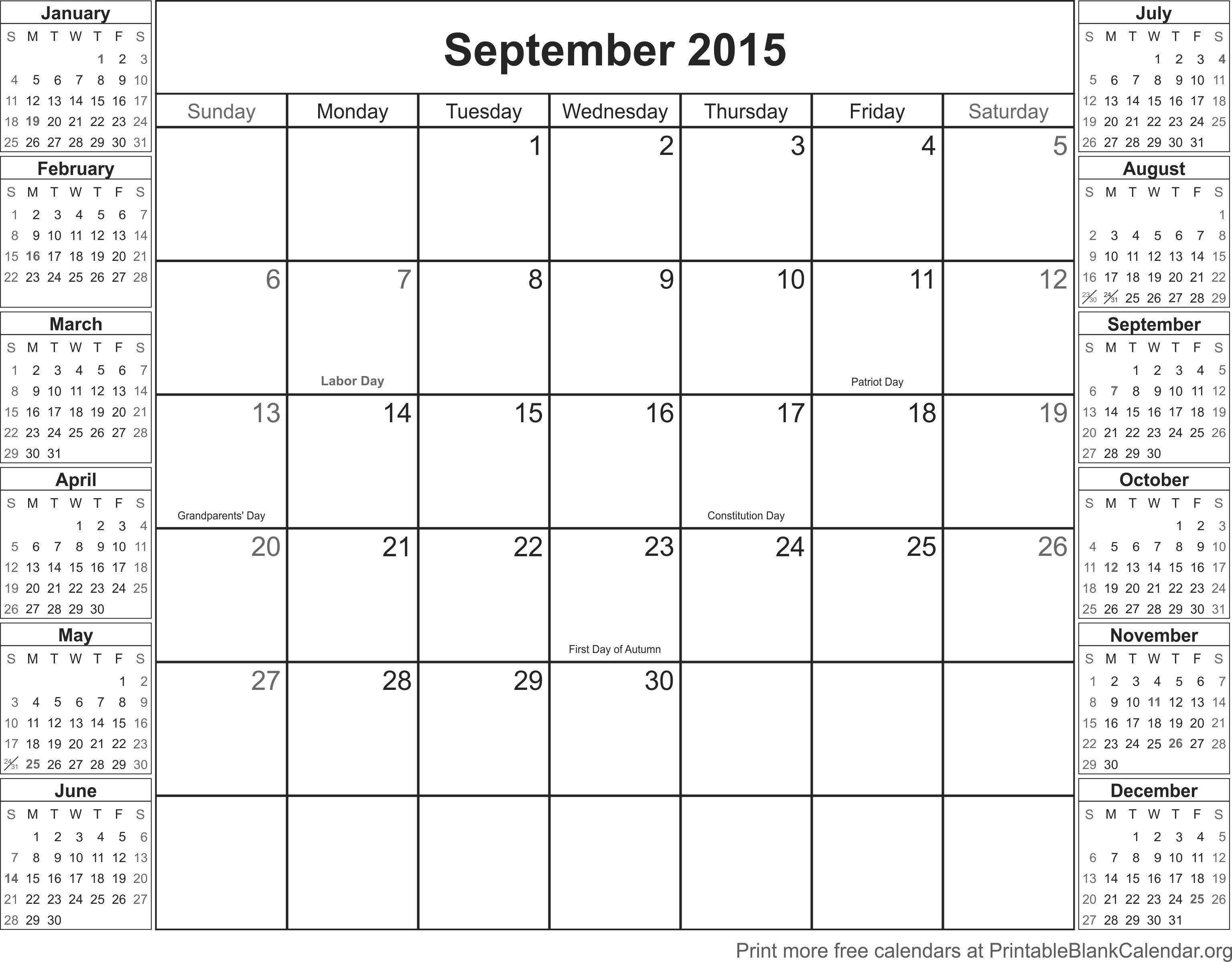 September calendar template 2015 romeondinez september calendar template 2015 maxwellsz