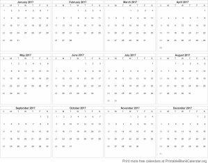 Free Calendar 2017