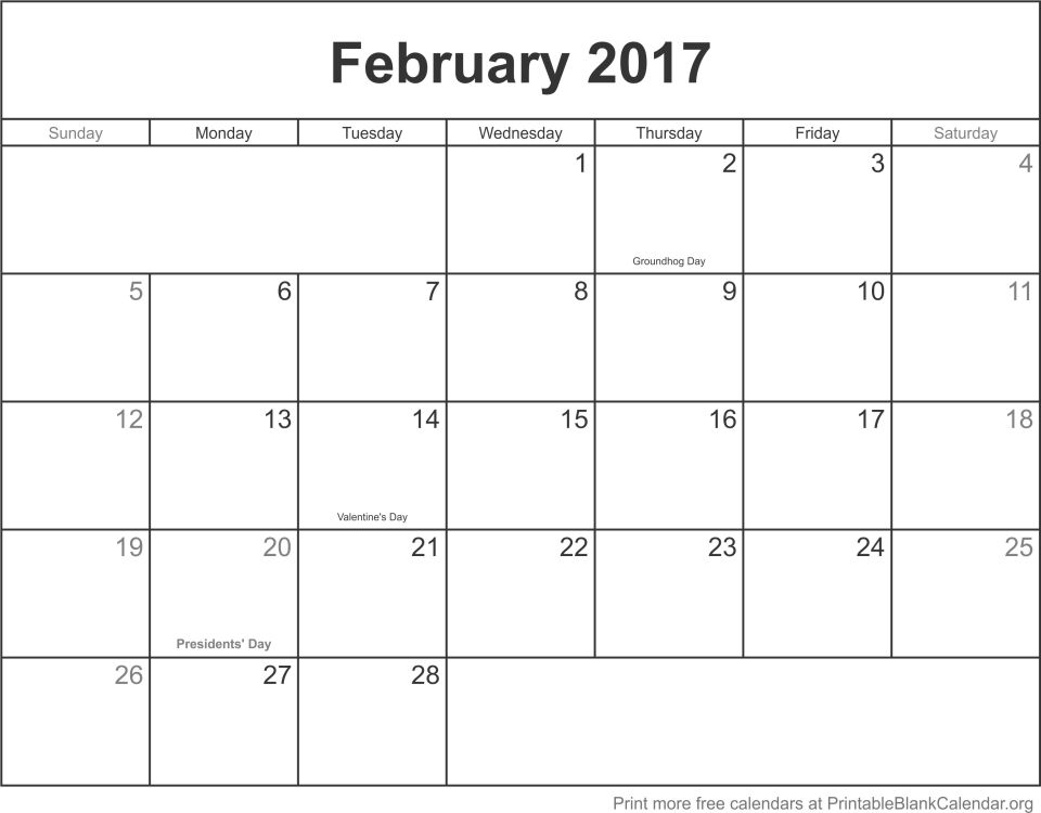 2017 Blank Calendars Archives - Page 9 Of 10 - Printable Blank