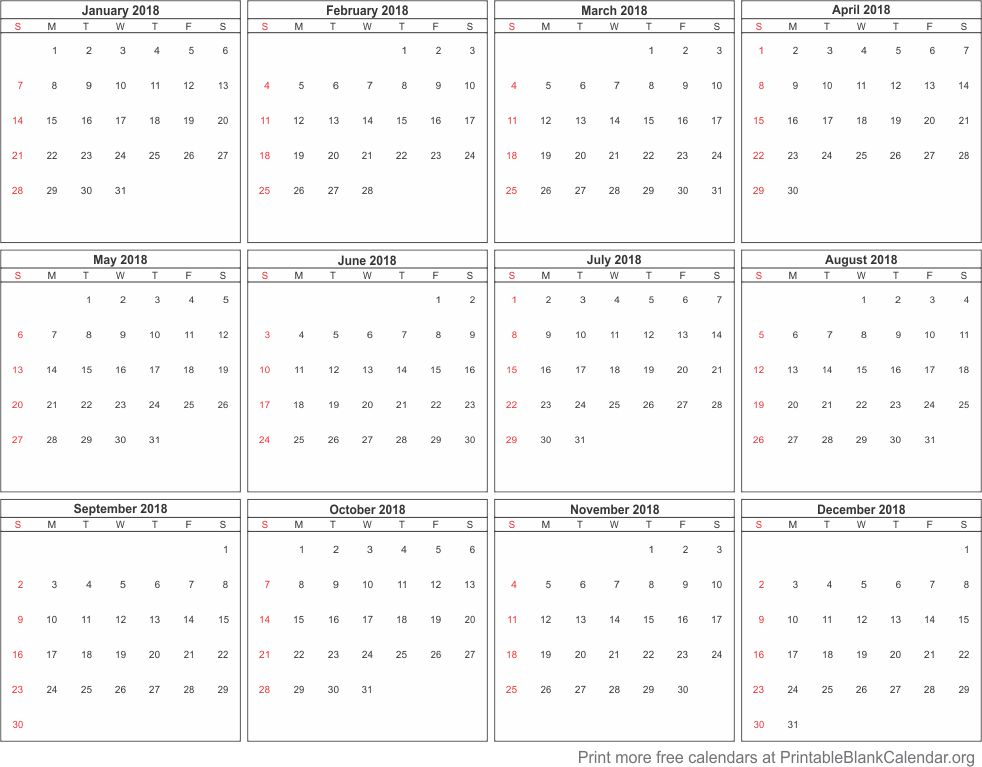 2018 free calendar