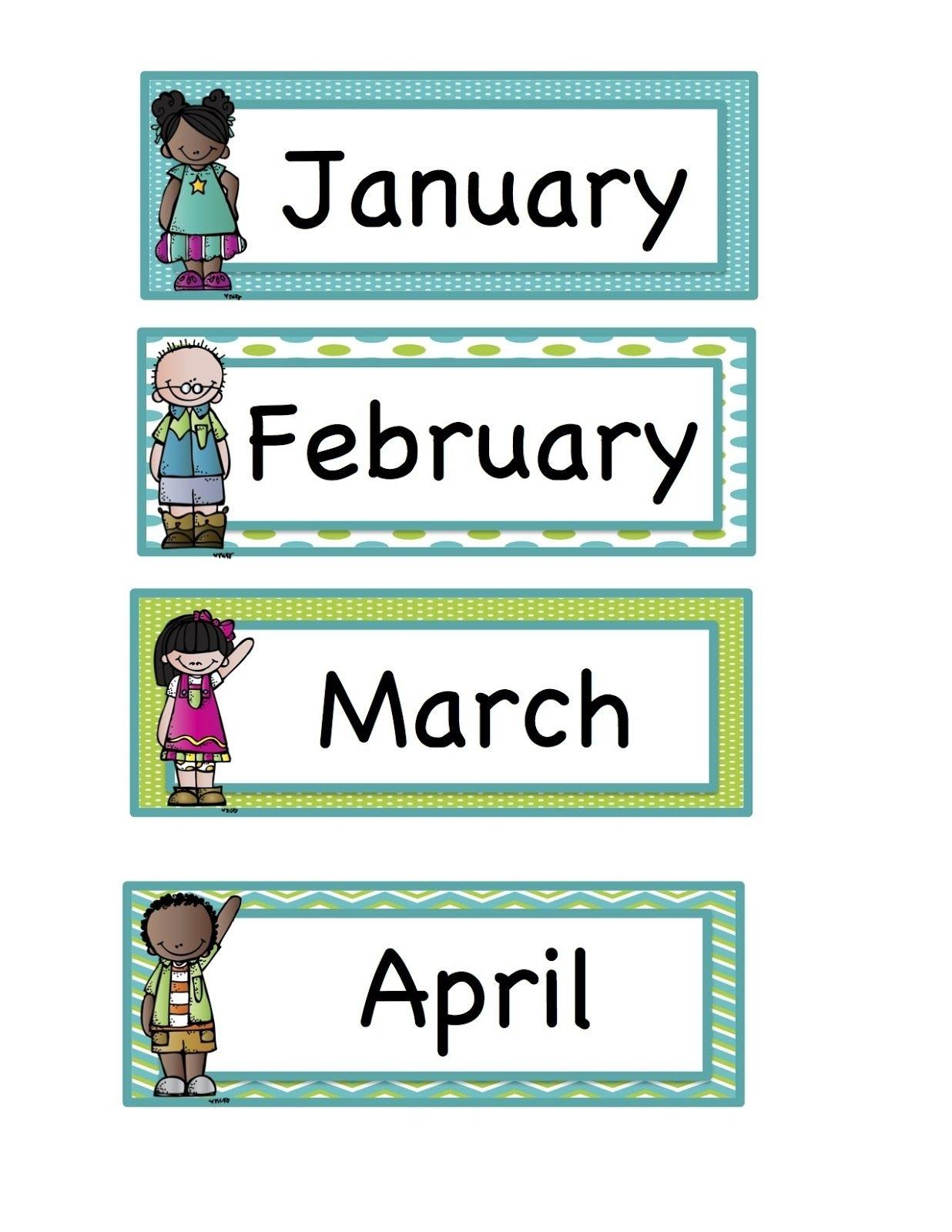 Calendar Month Labels Printable Printable Blank Calendar