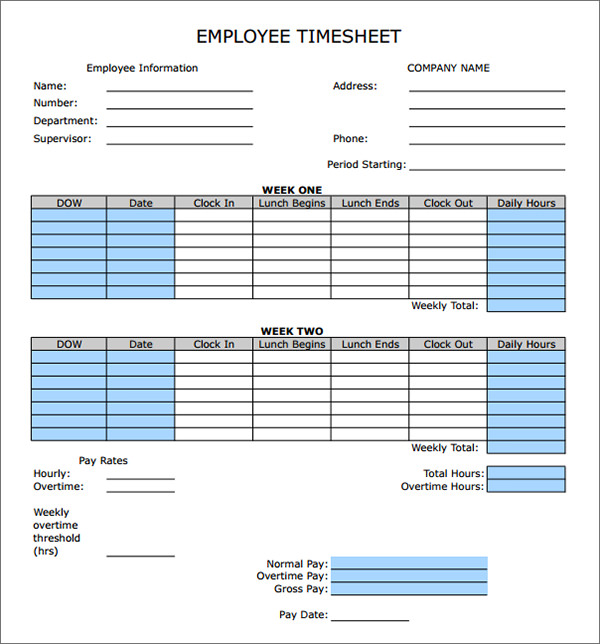 Time Card Calculator Online With Lunch  InfocardCo