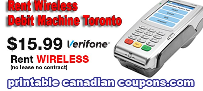 Rent Wireless Debit Machine Toronto $16