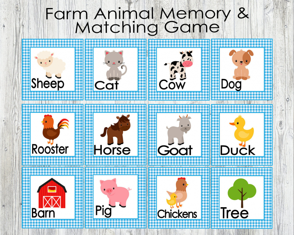 Animal Matching Cards Printable