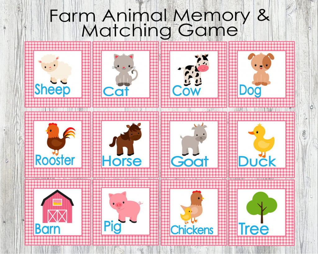 Animal Matching Cards Printable