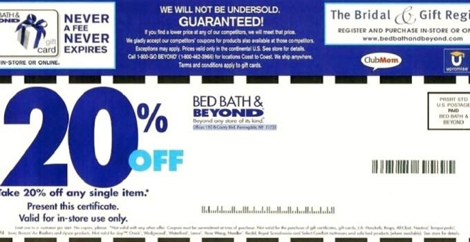 printable bed bath and beyond coupons