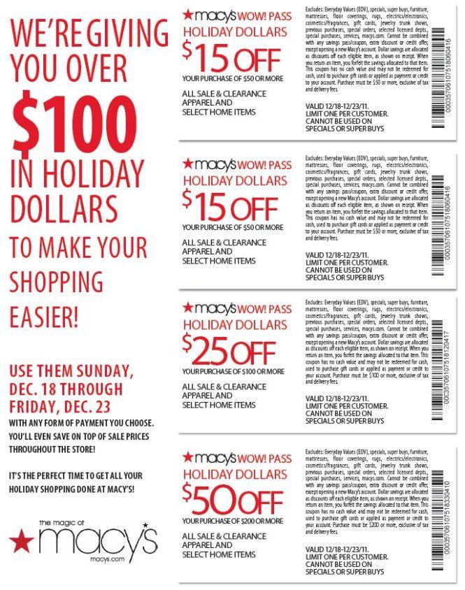 Printable Macys Coupon 2017 Wow Pass Get Coupons For