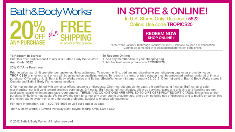 Bath And Body Works Locations