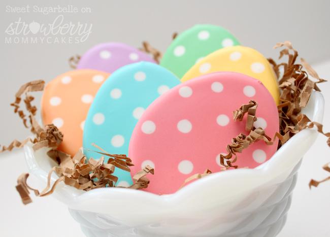 Polka-dot Easter Egg Cookie Tutorial by Sweet Sugarbelle