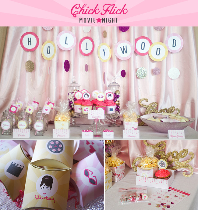 Chick Flick Party Printables