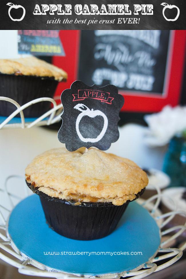 Apple Caramel Pie with the best pie crust EVER! on www.strawberrymommycakes.com