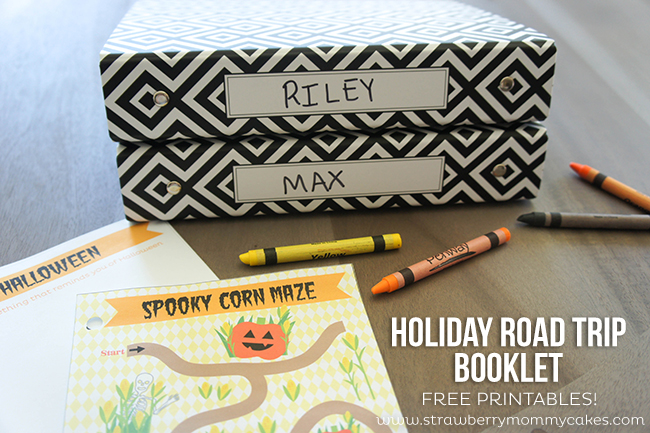 FREE Printable Holiday Road Trip Booklet on www.strawberrymommycakes.com #shop