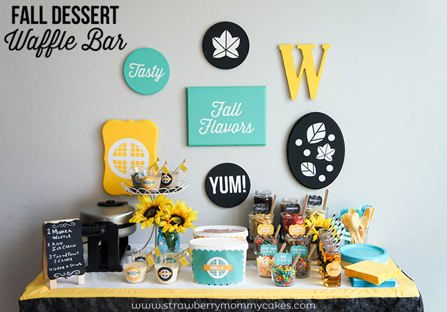 M&M's Fall Dessert Waffle Bar on www.strawberrymommycakes.com#FlavorofFall #CollectiveBias #shop