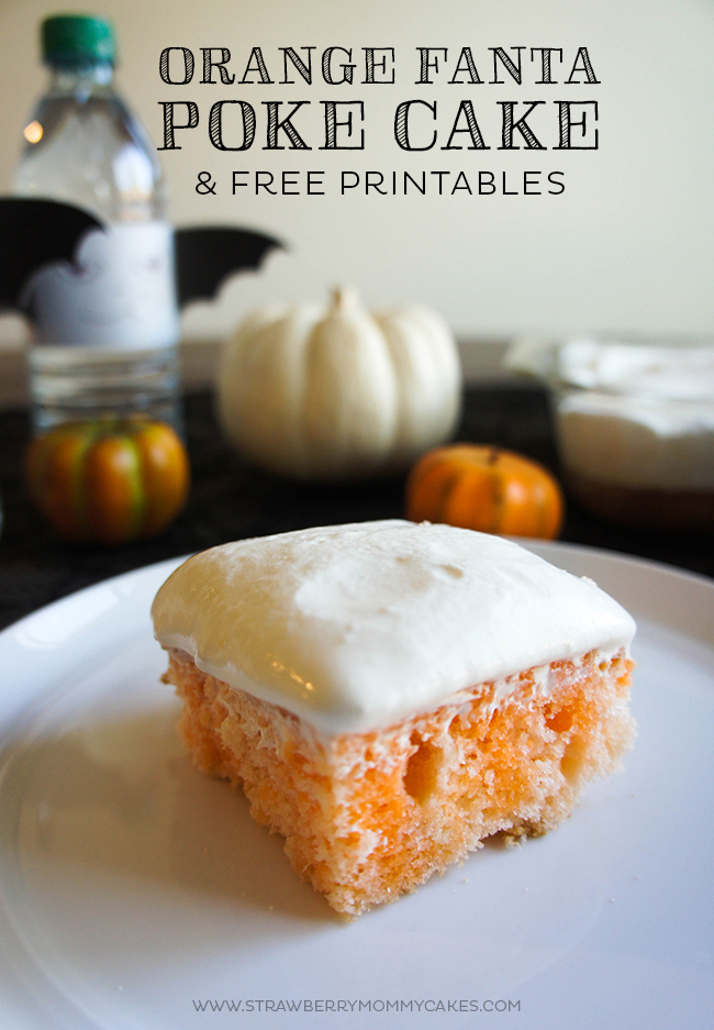 This Orange Fanta Poke Cake is the perfect Halloween treat!  #SpookySnacks#shop