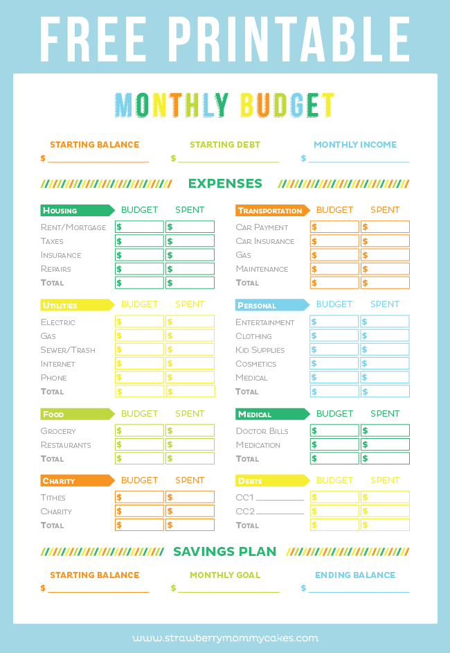 Get your finances in order with this FREE Printable Budget Sheet!