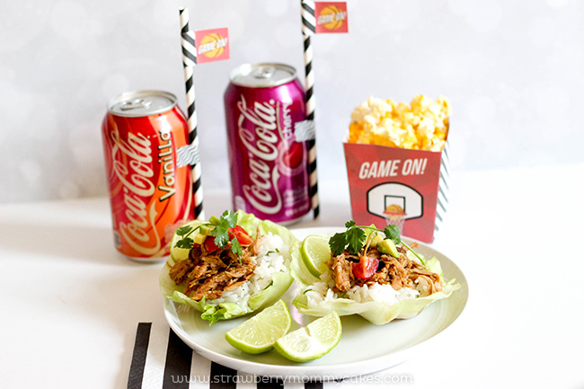 Cherry Coke Pork Lettuce Wraps and Free Game Night Printables