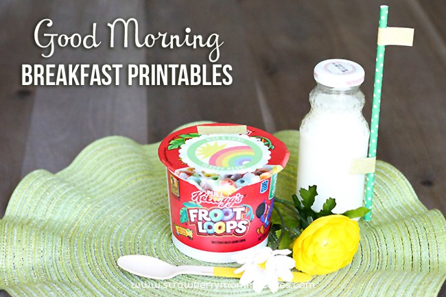 Good Morning Breakfast Printables