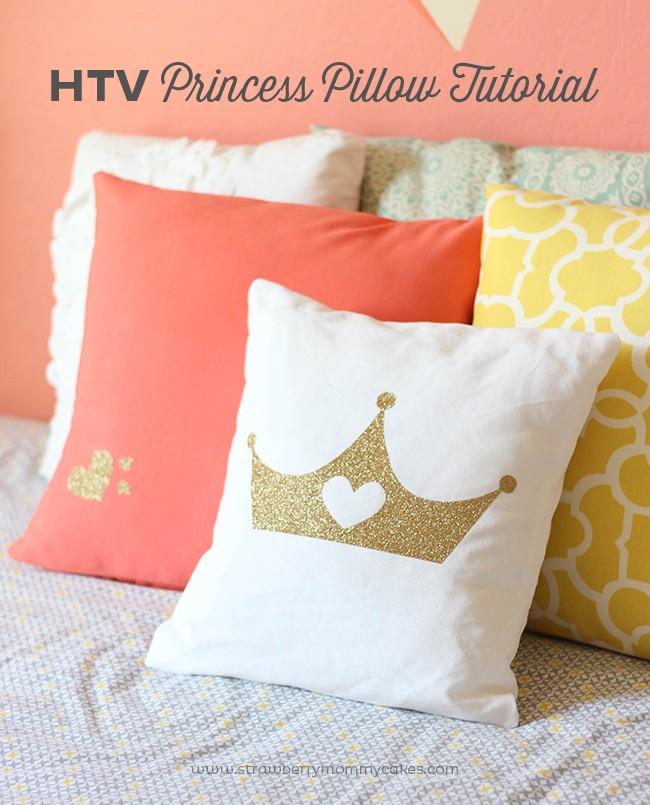 HTV Princess Pillow Tutorial