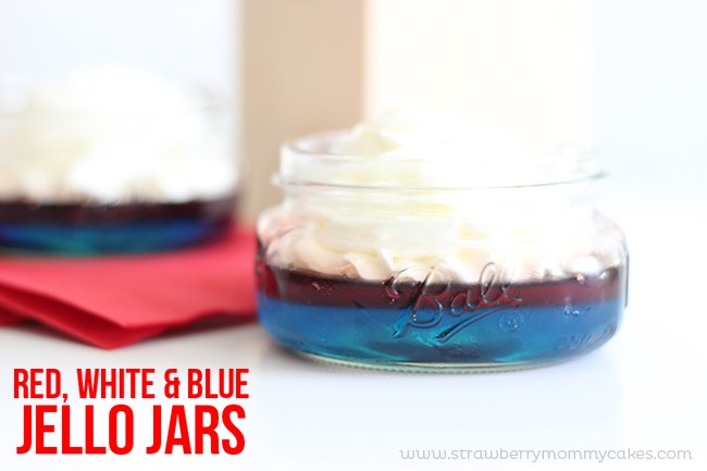 Red, White and Blue Jello Jars