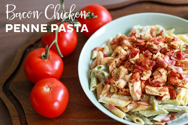 This Bacon Chicken Penne Pasta is a recipe kids will love!