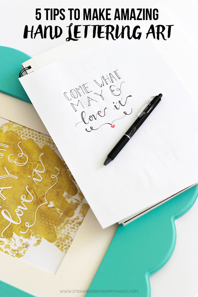 You don't have to be an artist to make quote art. Follow these 5 Tips for AMAZING Hand Lettering!