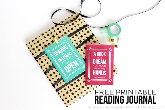 This Free Printable Reading Journal also works as a gift tag! Wrap up a book, attach the reading journal and track your child's reading!