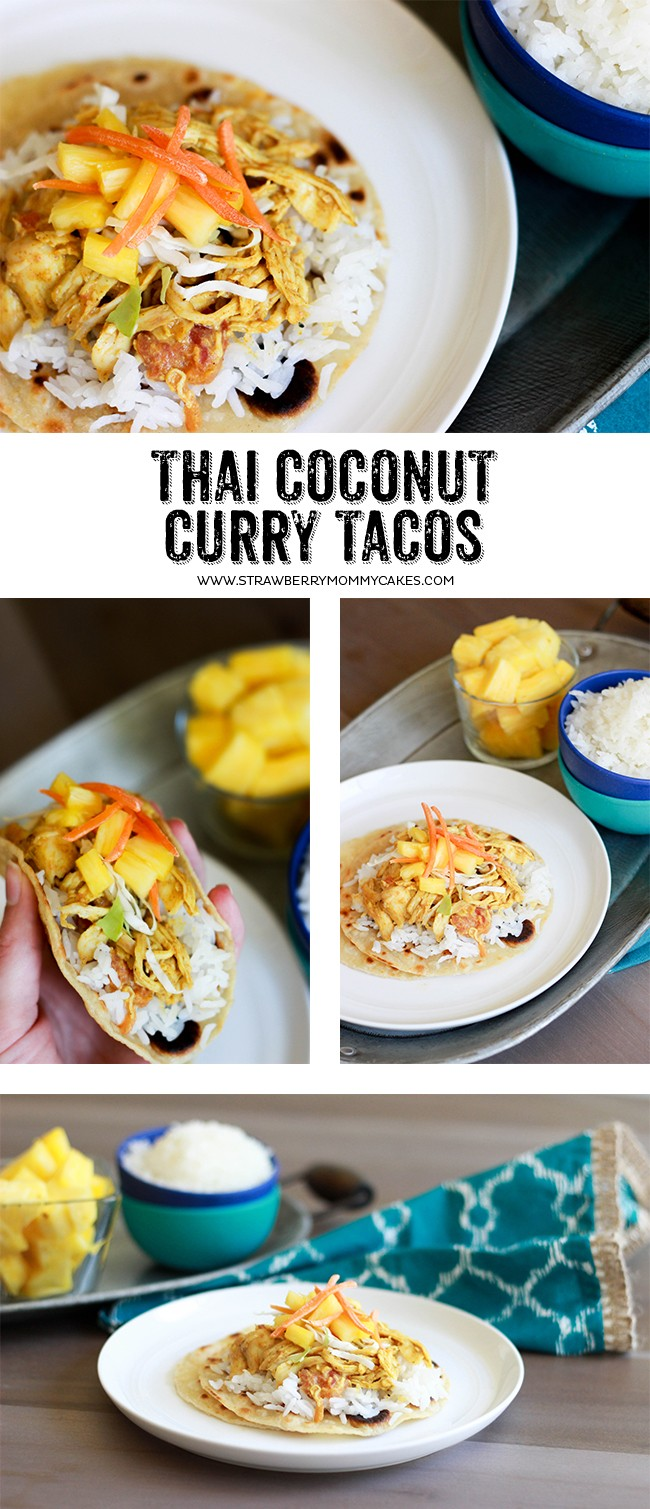 These Thai Coconut Curry Tacos have AMAZING flavor combinations that will keep your family asking for them again and again!