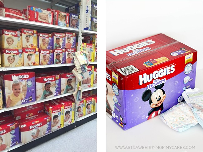 Huggies diapers horizontal collage