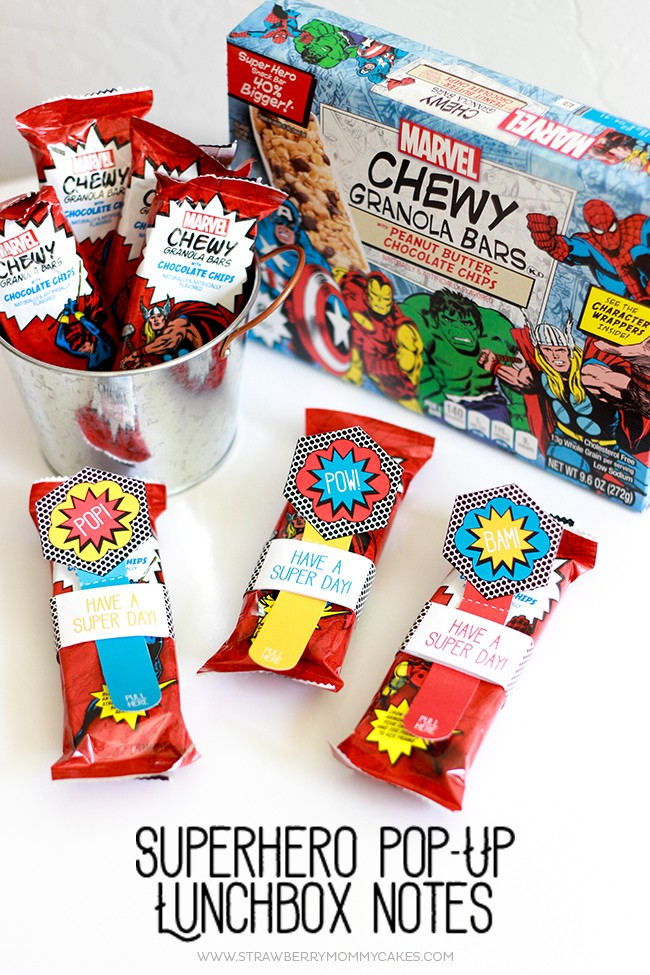 Make School lunches extra fun with these Superhero Pop-Up Lunchbox Notes!