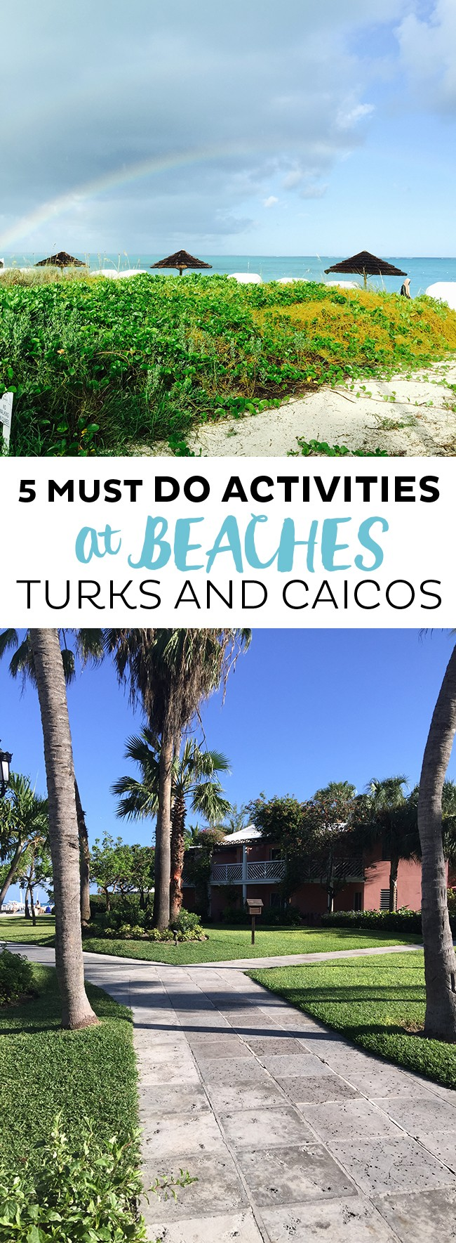 Long collage for things to do in Turks and Caicos