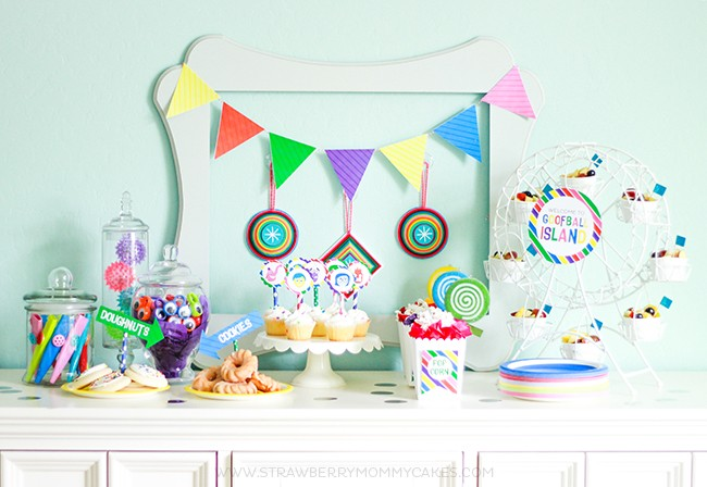 Inside Out themed party table