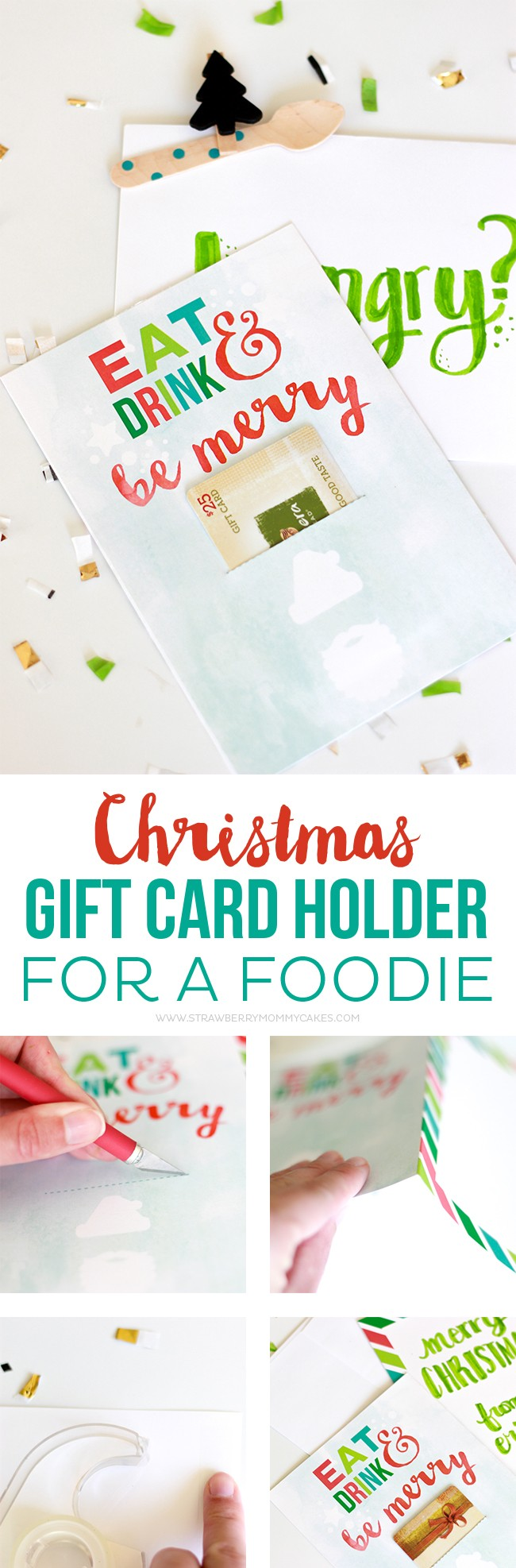 How To Make A Christmas Gift Card Holder For A Foodie Printable Crush