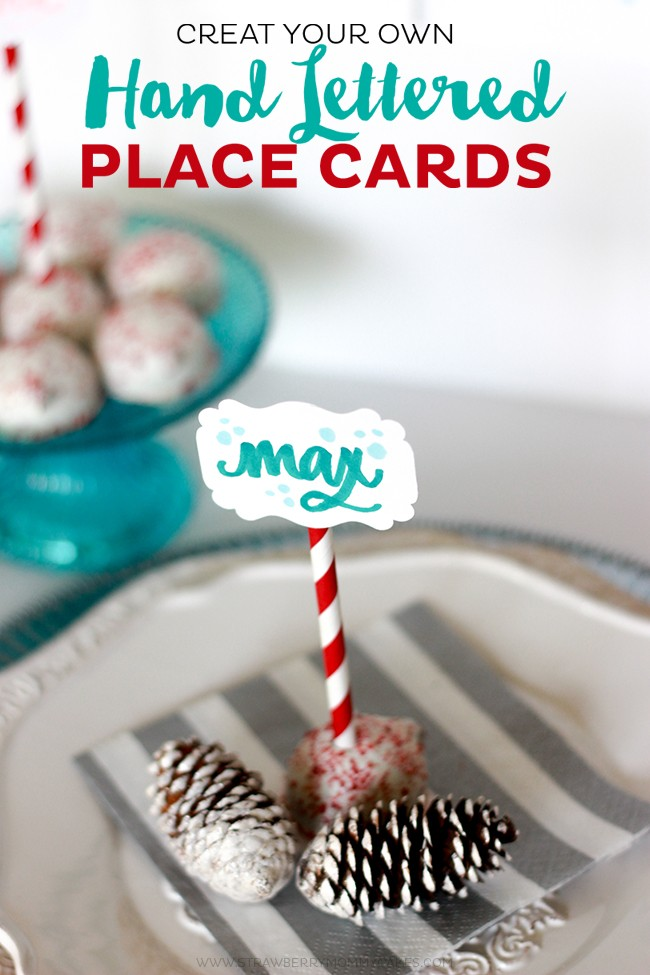 Create Your Own Hand Lettered Place Cards. It's so easy to do...just use your own hand writing!