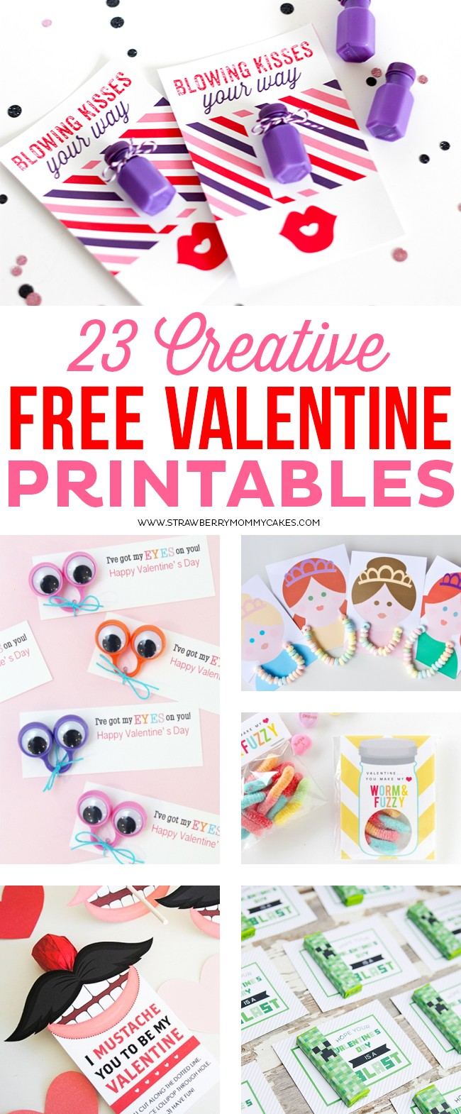 23 Creative and FREE Valentine Printables